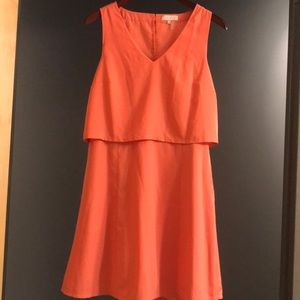 Coral dress in excellent condition worn 1 time